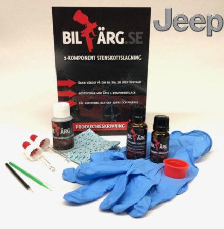 Lakkstift til Jeep